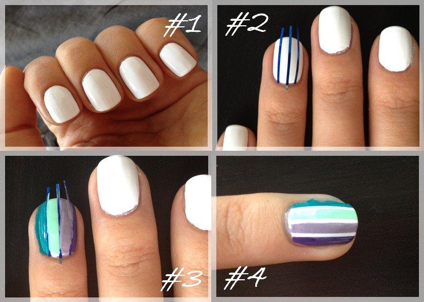 Nail art 3 couleurs